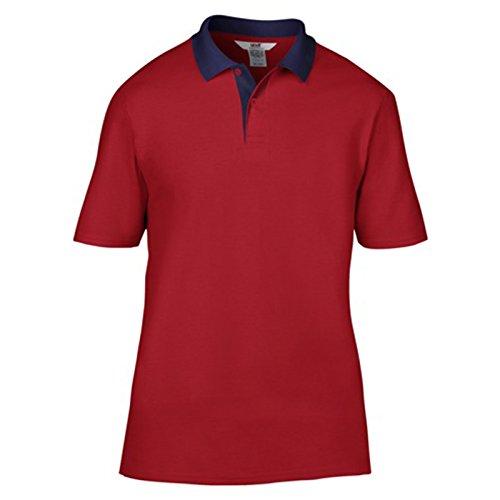 Anvil Herren Modern T-Shirt Red/ Navy