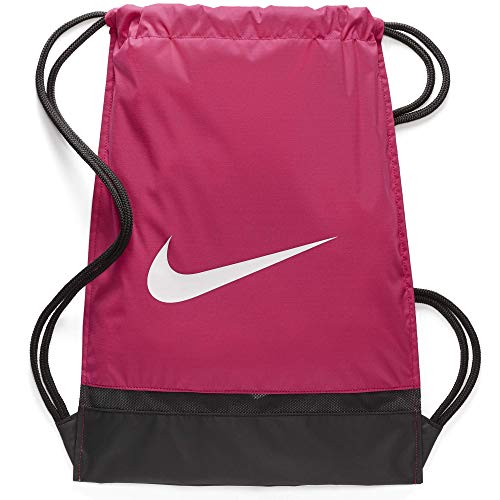 Nike nk brsla gmsk, sacco da palestra unisex adulto, rush pink/nero/bianco, 48.5 x 38 x 5 cm