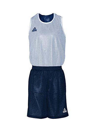 Peak Sport Europe Herren Basketball Reversible Trikot Set Iowa Trikotset, Navy-White, XS -