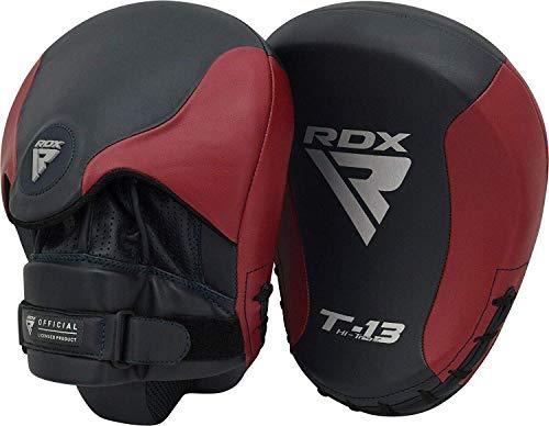 RDX Handpratzen Kampfsport Boxen Pads Boxpads Pratzen MMA Schlagpolster Kickboxen Muay Thai Training Schlagkissen Haken und Jab Sparring Sandsack (MEHRWEG)