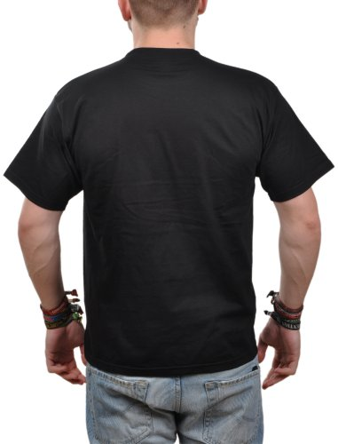 T-Shirt Herren Eidos Nachtangler - Angler T-Shirt Schwarz