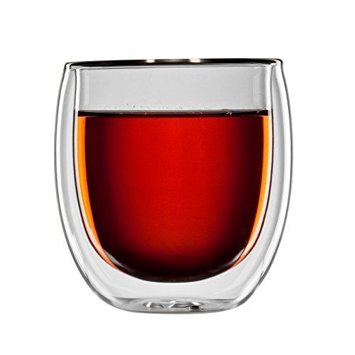bloomix T-008-300-G Borosilikat Tanger Tee doppelwandiges Thermo-Teeglas 2-er Set