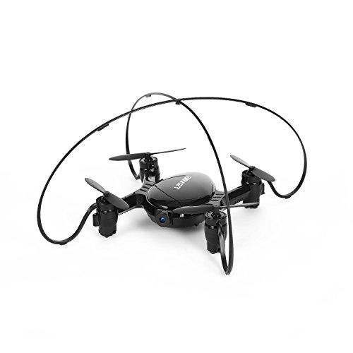 OCDAY Mini FPV Quadcopter plegable 2.4G 4CH 6Axis Pocket Drone RC Helicóptero con 0.3MP Cámara HD -Negro