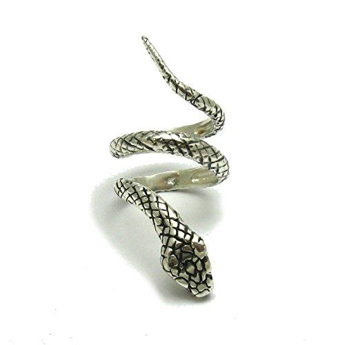 Lange sterling silber ring schlange 925 Empress jewellery Größe 47-69 -