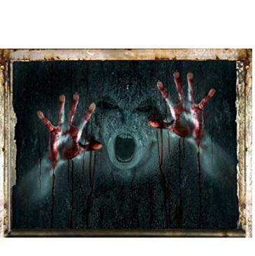 Halloween 3D Wandaufkleber Horrible Kürbis Terror Home Hell Muster Hintergründe Home Allerheiligen Scary Dekorative Zombie Wandaufkleber Wand Home Spuk 3D Aufkleber für Hallowmas Room Decor