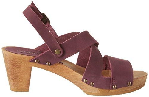 Sanita Olympia Square Flex Sandale, Sandales Compensées femme Violet (aubergine)