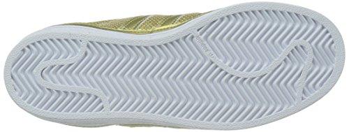 adidas Superstar, Scarpe da Ginnastica Donna Oro/Bianco