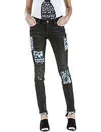 Meltin'Pot - Jeans MADOLINE D1801-UP099 para mujer, estilo skinny, ajuste ceñido, talle media