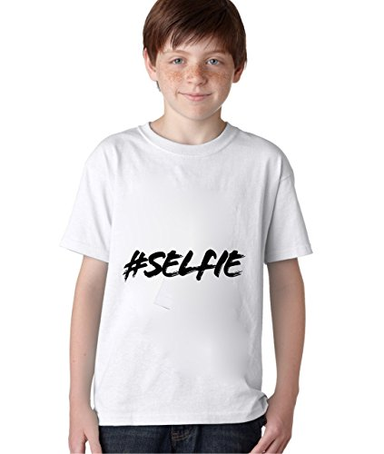 hashtag-selfie-unisex-baby-kids-t-shirt-ages-5-13-extra-small
