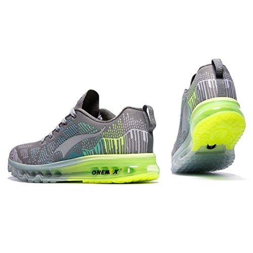 Onemix Sneakers Basses Homme,Chaussures de Course Homme léger Respirant Coussin d'Air Carbon soot month