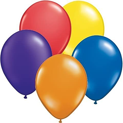 Pack of 300 Assorted Colours Latex Party Balloons (60x Yellow, 60x Blue, 60x ... by My Discounts Direct