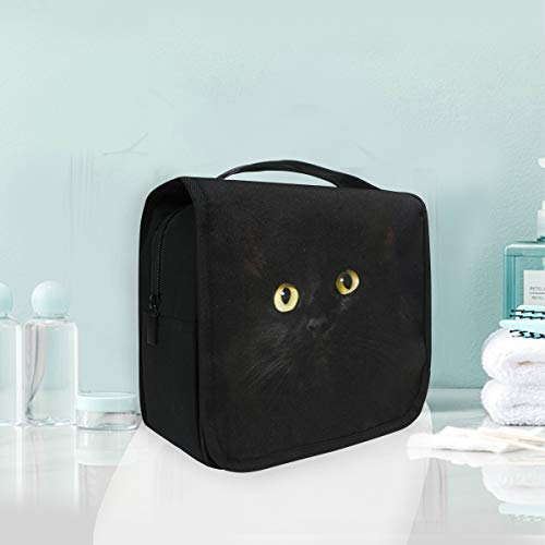 Make-up Kosmetiktasche Black Night Tier Katze Portable Storage Travel Kulturbeutel -