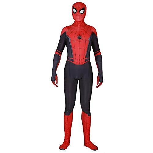 GBRALX Film Cosplay Spiderman Kostüm Halloween Party Kostüm Requisiten Kampfanzug Kostüm Bodysuit Overall Homecoming Cosplay Kostüm,A-S