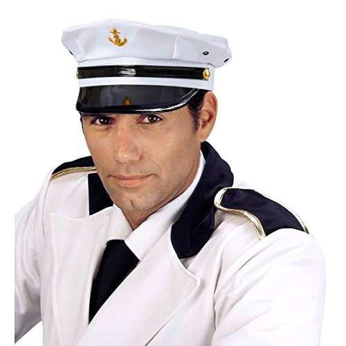 NET TOYS Kapitänsmütze Marine Captain Hut Seemann Offiziersmütze -