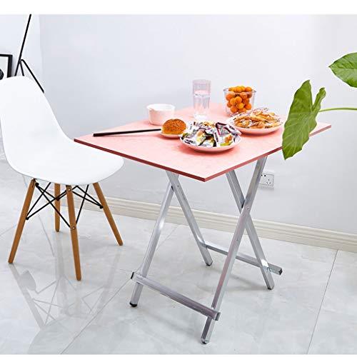 Leqi Klapptisch Tragbare Nachtmarkt Stall Stall Tisch Hause Esstisch Einfache Rechteckigen Tisch Schreibtisch 80 * 40 Hohe 55 (schwarz Gebürstet) (Color : Oak) -