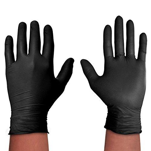 Spontex Black Protect Gr. XL - 20 Einmalhandschuhe, schwarz & reißfest (2x20 Stück)