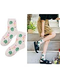 a4b60113790 Oyfel Chaussette Lot Flamingo Myrtille Banane Renard Couleur Original Fun  Fantaisie Fashion Style Art Fleur pour Homme…