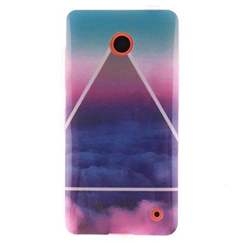 Nancen Nokia Lumia N630 / N635 (4,5 Zoll) Ultra Slim Weich TPU Material Design Silikon Handytasche Schutzhülle, Painted Mode Anti-Kratz Handyhülle Case Hülle Backcover Tasche