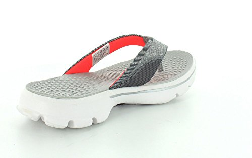 Skechers Go Walk Nestle, Sandales Plateforme femme GYPK - Gray/Pink