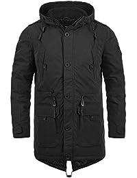 SOLID Davido Herren Parka lange Winterjacke mit Kapuze aus hochwertiger Baumwollmischung