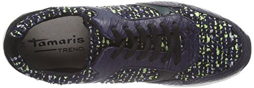 Tamaris 23611, Baskets Basses femme Multicolore - Mehrfarbig (Navy Comb 890)