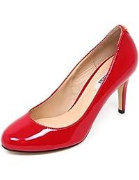 Decolt scarpe guess camoscio e vernice rosse shoes