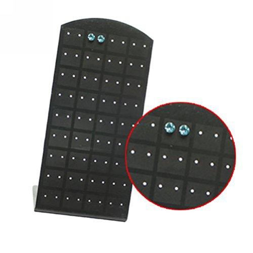 VORCOOL Schmuckständer Halter Ohrringständer 72 Löcher Ohrsteckerständer (Schwarz)