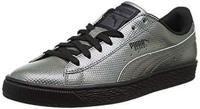 4e4900a163c1 Puma Unisex-Erwachsene Basket Classic Holographic Low-Top Schwarz Black 01