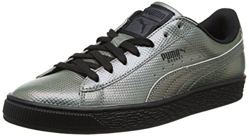 Puma Basket Classic Holographic, Sneakers Basses Mixte Adulte Noir (Puma Black 01)