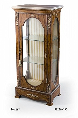 CASA PADRINO BAROQUE DISPLAY CABINET 58 X 38 X H 130 CM - BAROQUE FURNITURE
