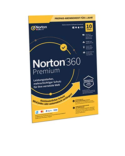 Norton 360 Premium 2020 | 10 Geräte | 1 Jahr | PC/Mac/Android/iOS | FFP | Download