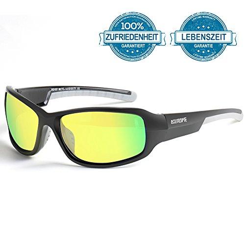 BTERDNE Sportbrille Polarisiert Fahrradbrille Sport Sonnenbrille für Herren und Damen UV400 Schutz...