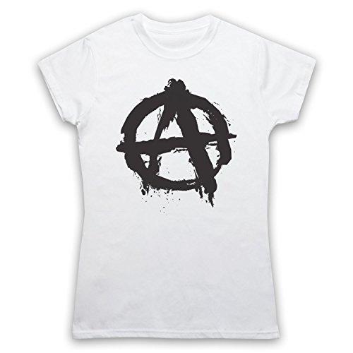 Anarchy Logo Damen T-Shirt Weis