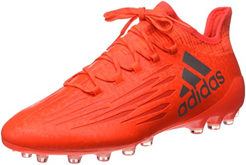 adidas X 16.1 Ag, Chaussures de Football Homme Orange (Solar Red/Silver Metallic/Hi/Res Red)