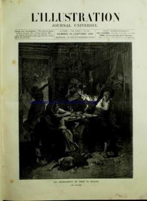 ILLUSTRATION (L') [No 2187] du 24/01/1885 - LES TREMBLEMENTS DE TERRE EN ESPAGNE