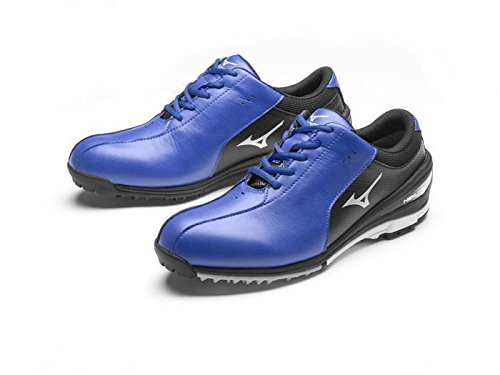 Mizuno 2017 NEXLITE SL Ultra-Light Spikeless Waterproof Mens Golf Shoes - Blue/Black 6.5UK