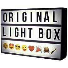 "'Ginger Snap señal luminosa ""Cinema Light Box, 85letras, números y símbolos"