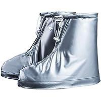 VIMOER Cubierta Semitransparente de los Zapatos de Lluvia para la Nieve, Botas con Cierre Ajustable con Cierre Antideslizante Sobre el Protector de Viaje al Aire Libre Size XL