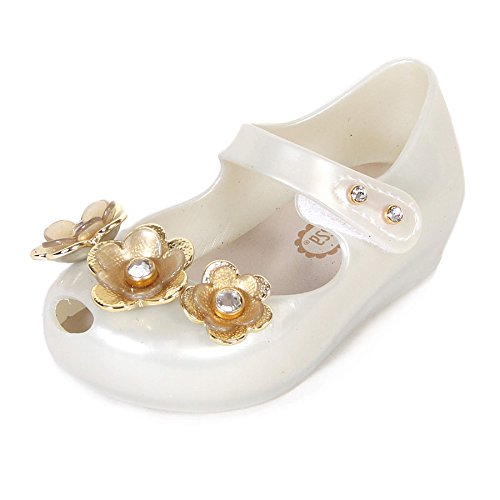 Melissa Mini Infant's Ultragirl Crystal Flower Plastic Flat Pearl-Pearl-6 Size 6