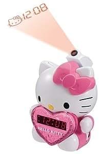 BRAND NEW HELLO KITTY PROJECTION ALARM CLOCK WITH AM/FM RADIO