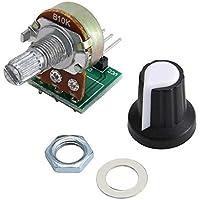 Módulo de resistencia del módulo de potenciómetro de 10K ohmios Módulo de potenciómetro giratorio de cono lineal de 3 pines para con tapa - Verde