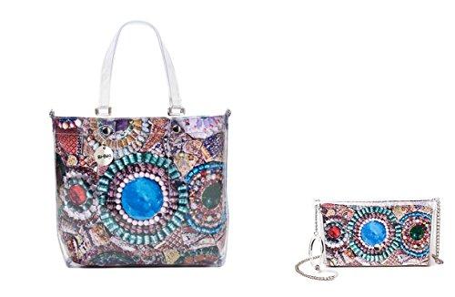 """BI-BAG borsa donna modello EASY """"SUMMER COLLECTION"""" + pochette Multicolore Con Pietre"""