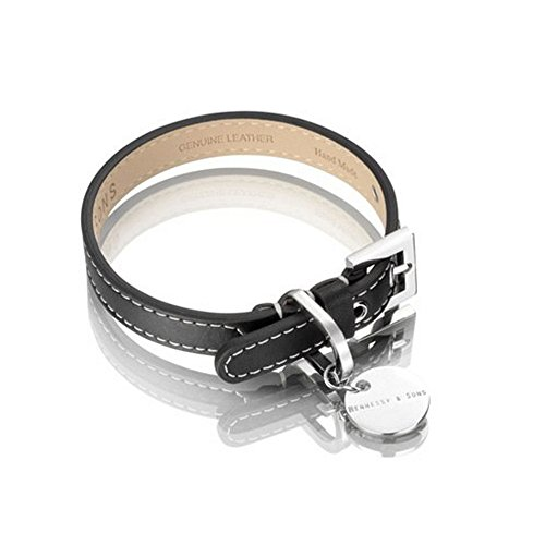 long-paws-hennessy-saffiano-leather-dog-collar-large-black