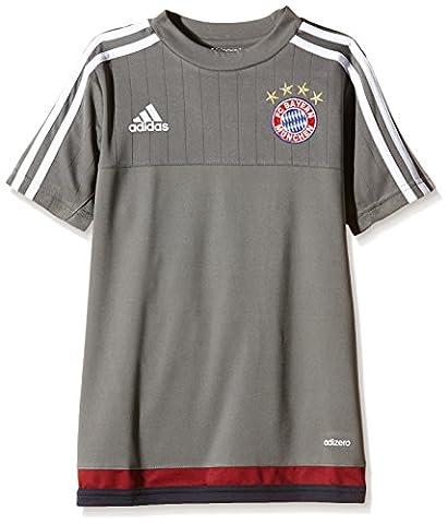 Adidas maillot d'entraînement en jersey pour supporter du fC bayern 13-14 ans Gris - Ash/White