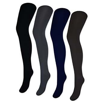 1 bis 4 Damen THERMO Strumpfhosen mit Innenfleece extra warm & weich Innenfutter Fleece - Art.: 287 - Sockenkauf24 (36/40, Blau)