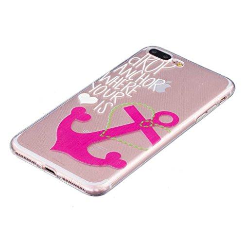 iPhone 7 Hülle [mit Frei Panzerglas Displayschutzfolie], BoxTii® iPhone 7 Schutzhülle Transparent Silikon TPU Bumper Case, Anti-Scratch UltraSlim Weiche Rückdeckel für Apple iPhone 7 (#8 Löwenzahn) #12 Pink