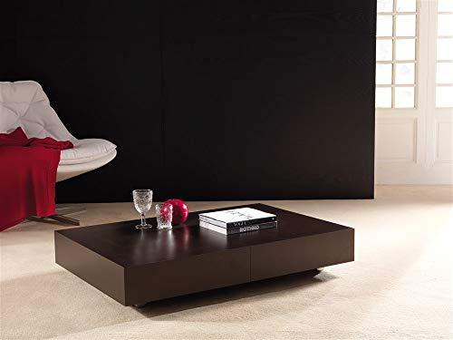 Emporio3 Tavolino trasformabile allungabile K2 - SG282, Base alluminio e piano wengè