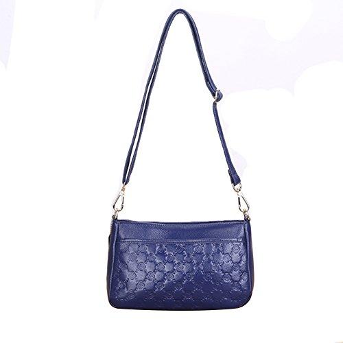Genda 2Archer Pelle delle donne Borsa a tracolla borsetta Cercare moda per Occasione (bianco) blu