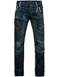 Cipo & Baxx estándar Hombre Regular Fit Jeans azul blanco
