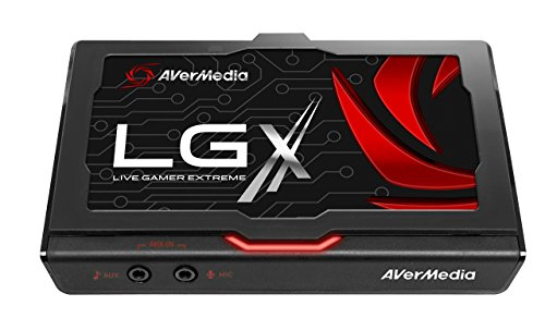 AVerMedia Live Gamer Extreme (LGX) – Capturadora USB3.0 1080p60fps para Xbox 360/Xbox One/PS3/PS4 y WiiU